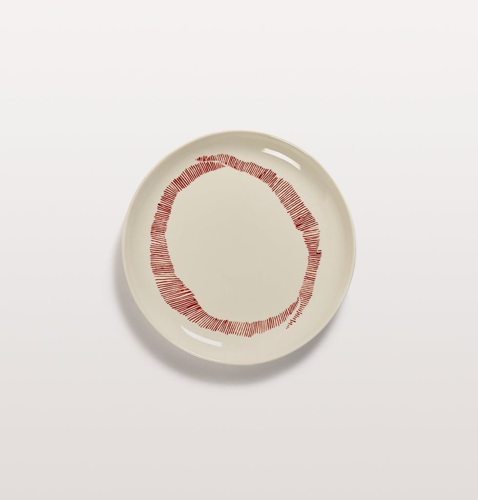 Ottolenghi x Serax. White & Swirl Stripes Red small plate. £20 wagreen.co.uk