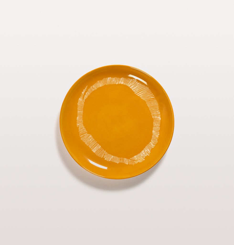Ottolenghi x Serax. Sunny Yellow & Swirl Stripes White small plate. £20 wagreen.co.uk
