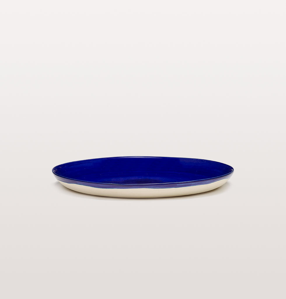 Ottolenghi x Serax. Lapis Lazuli medium plate side view. £25 wagreen.co.uk