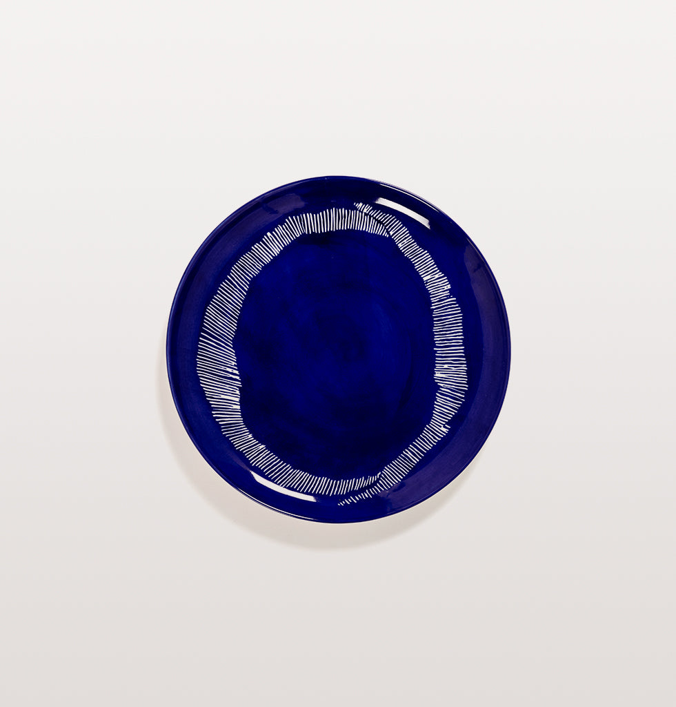 Ottolenghi x Serax. Lapis Lazuli and Swirl Dots White large plate. £30 wagreen.co.uk