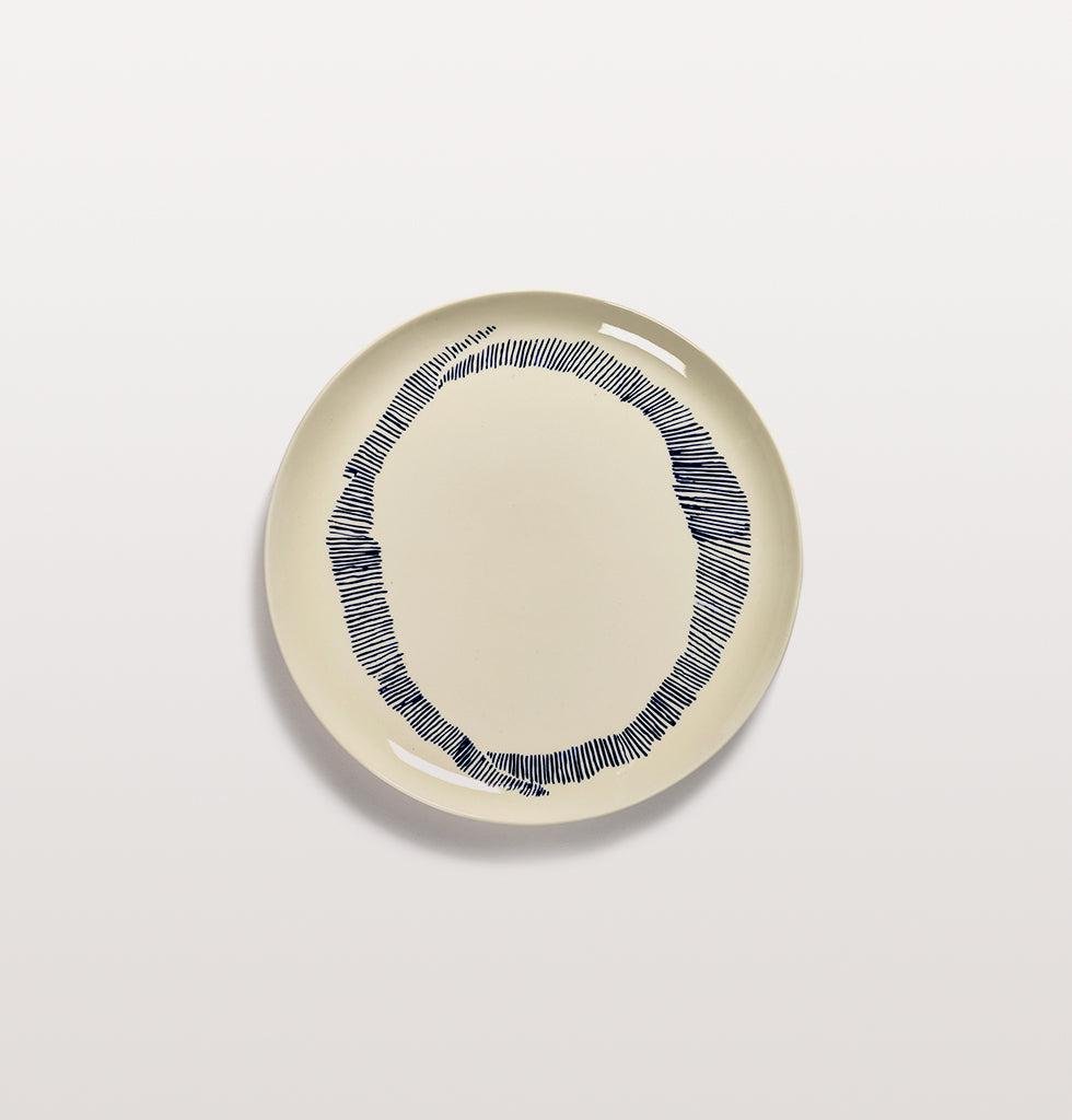 Ottolenghi x Serax. White and Swirl Stripes Blue large plate. £30 wagreen.co.uk