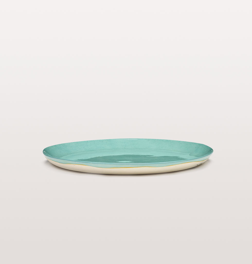 Ottolenghi x Serax. Azure large plate side view. £30 wagreen.co.uk