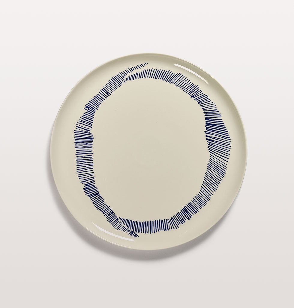 Ottolenghi x Serax. White and Swirl Stripes Blue serving plate. £67 wagreen.co.uk