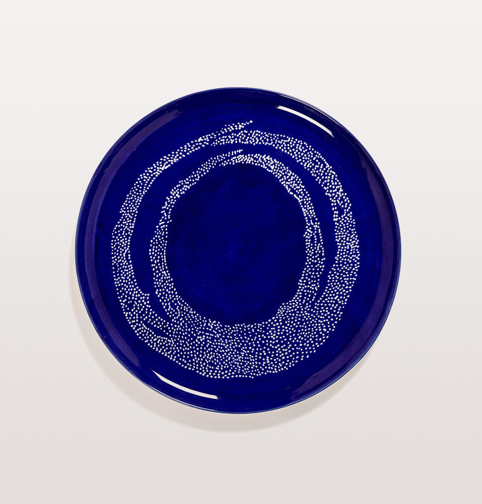 Ottolenghi x Serax. Lapis Lazuli and Swirl Dots White serving plate. £67 wagreen.co.uk