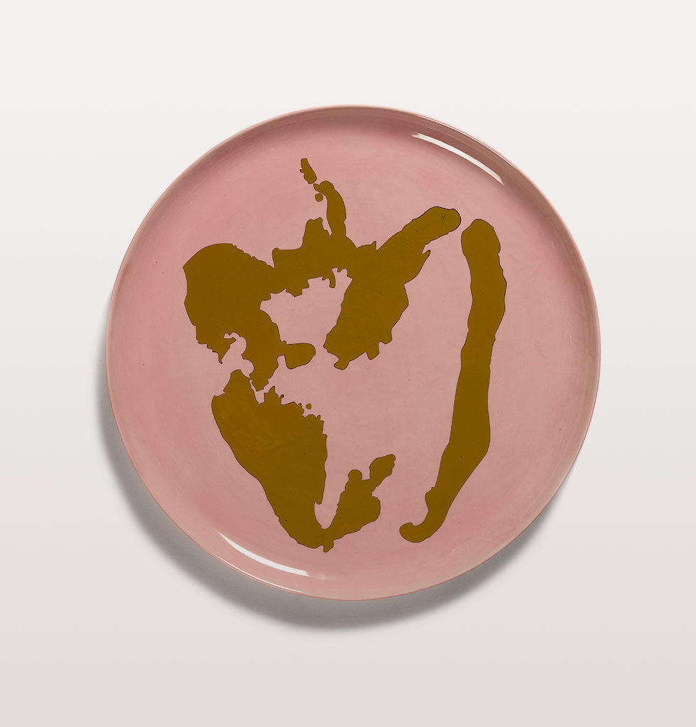 Ottolenghi x Serax. Delicious Pink and Pepper Gold serving plate. £85 wagreen.co.uk