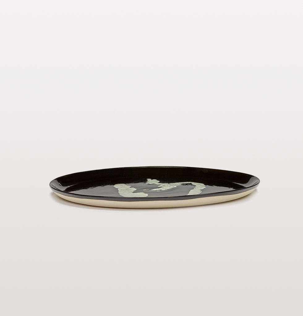 Ottolenghi x Serax. Black and Pepper White serving plate. £67 wagreen.co.uk