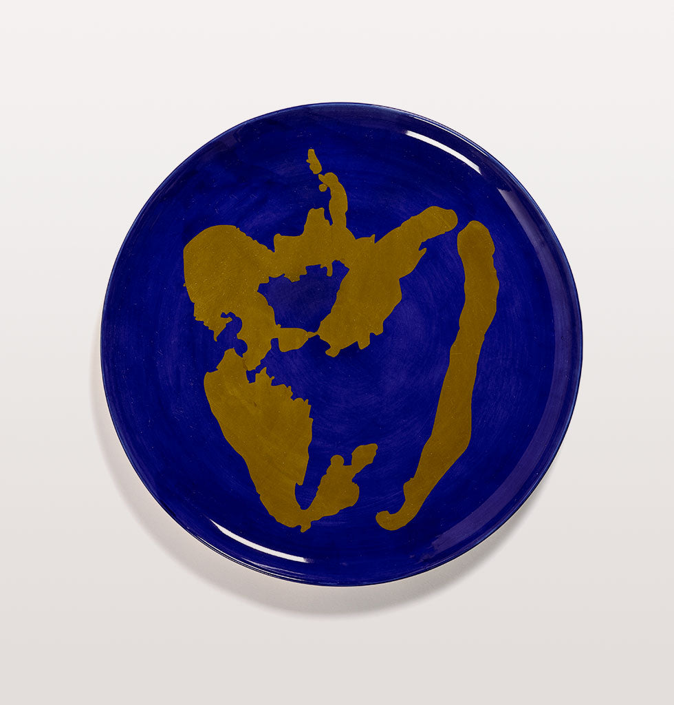 Ottolenghi x Serax. Lapis Lazuli and Pepper Gold serving plate. £85 wagreen.co.uk