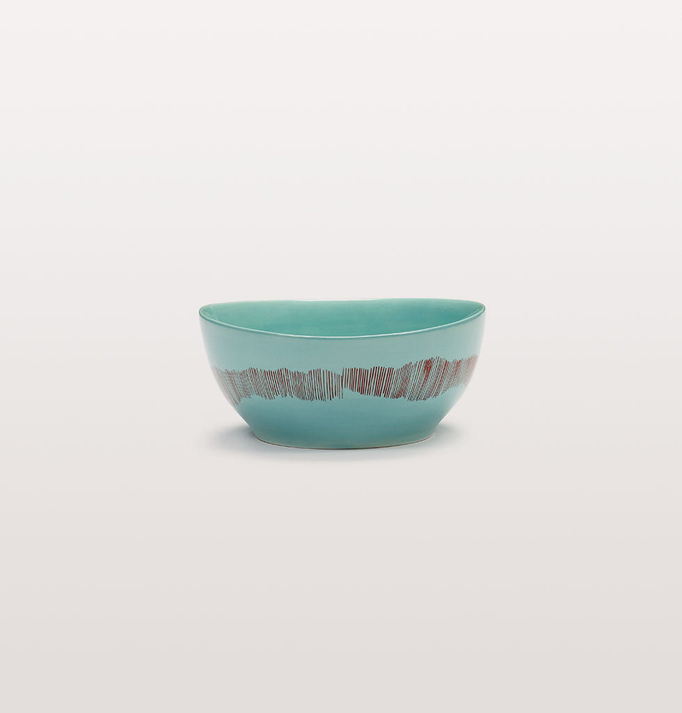 Ottolenghi x Serax. Azure and Swirl Stripes Red small bowl. £23 wagreen.co.uk
