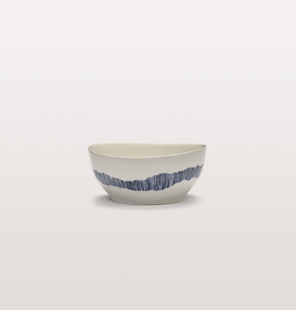 Ottolenghi x Serax. White and Swirl Stripes Blue small bowl. £23 wagreen.co.uk