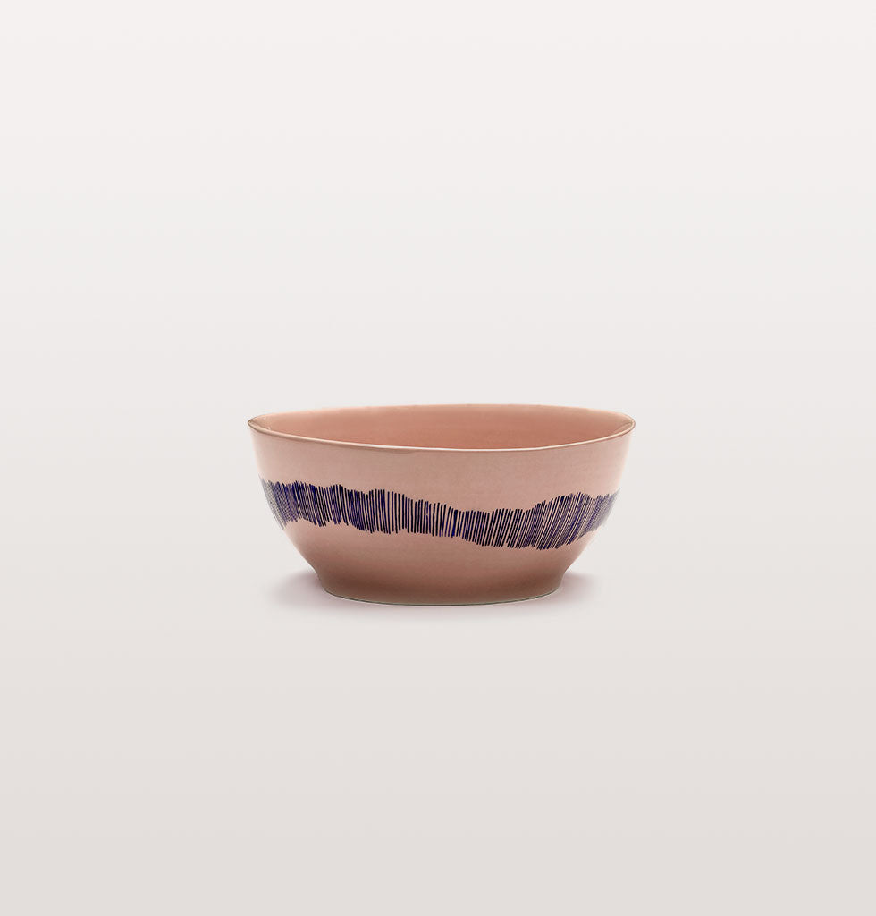 Ottolenghi x Serax. Delicious Pink Swirl Stripes Blue small bowl. £23 wagreen.co.uk
