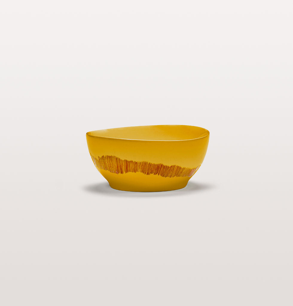 Ottolenghi x Serax. Sunny Yellow and Swirl Stripes Red small bowl. £23 wagreen.co.uk