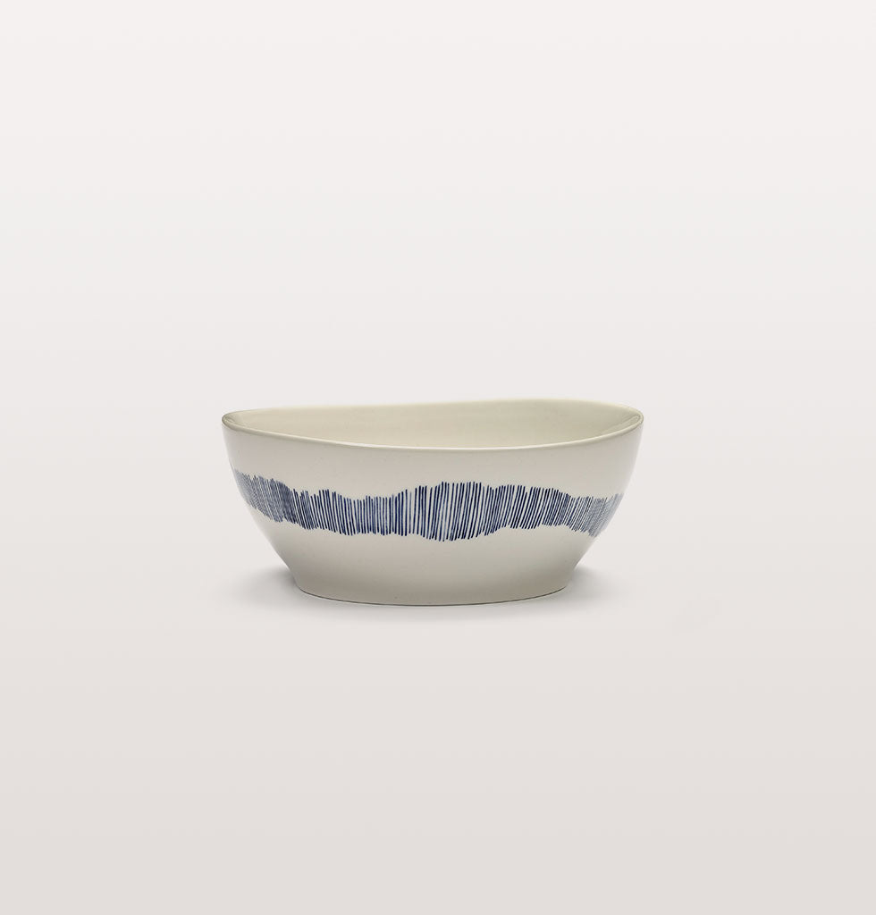 Ottolenghi x Serax. White and Swirl Stripes Blue large bowl. £27 wagreen.co.uk