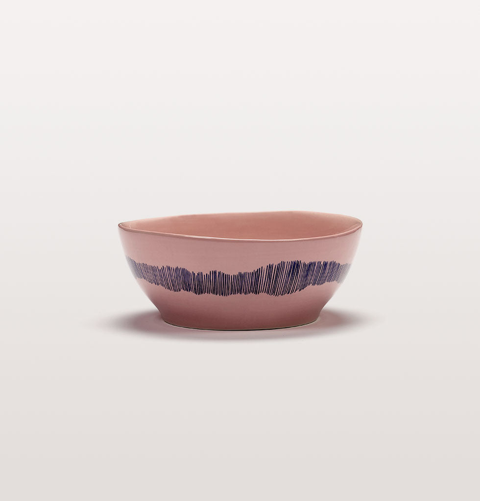 Ottolenghi x Serax. Delicious Pink Swirl Stripes Blue large bowl. £27 wagreen.co.uk