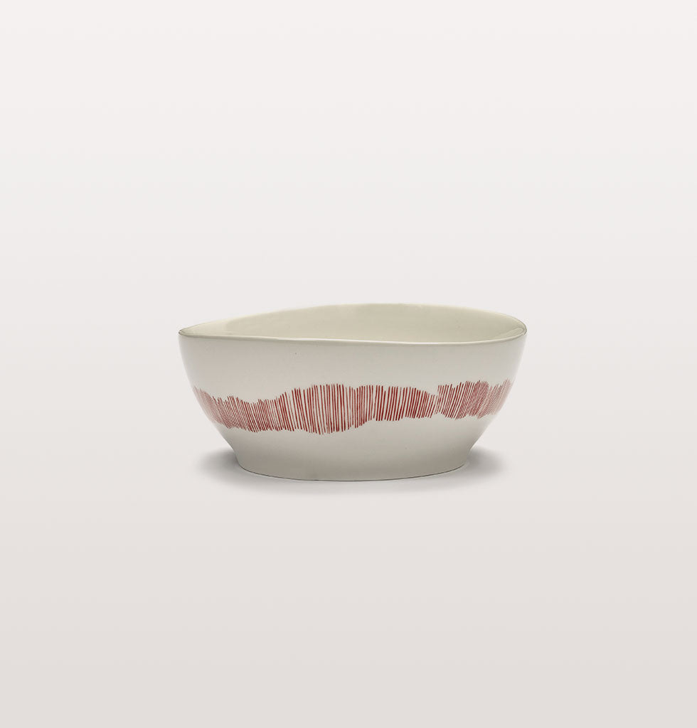 Ottolenghi x Serax. White and Swirl Stripes Red large bowl. £27 wagreen.co.uk