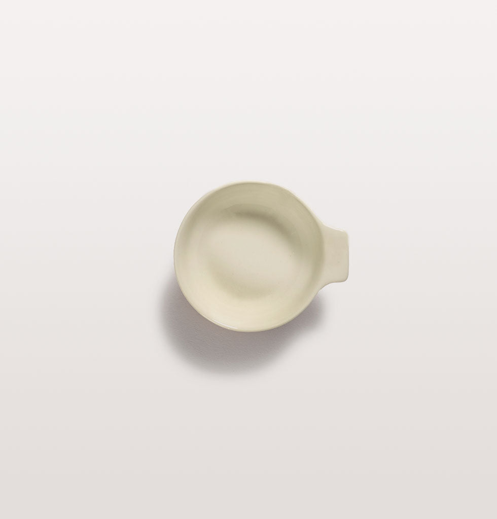 Ottolenghi x Serax. White small tapas plate top view. £9 wagreen.co.uk
