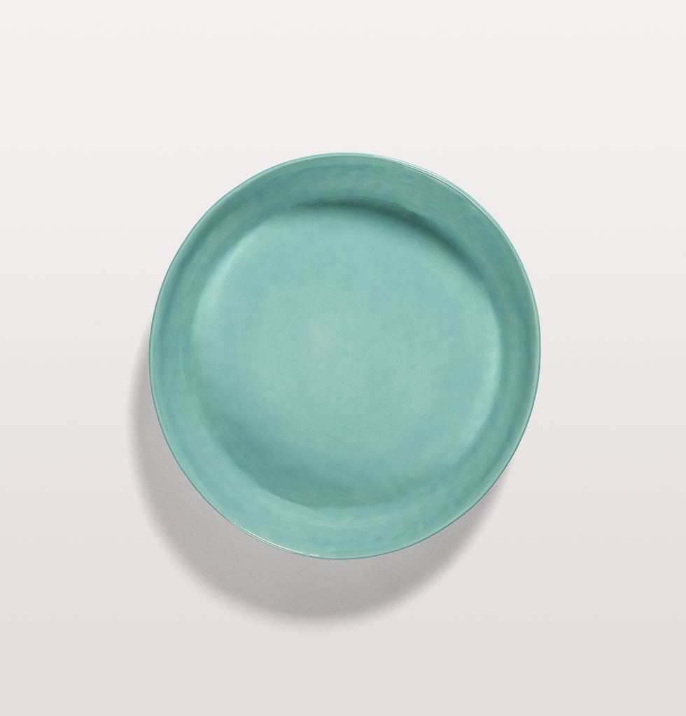 Ottolenghi x Serax. Azure and Swirl Stripes Red small serving dish top view. £65 wagreen.co.uk