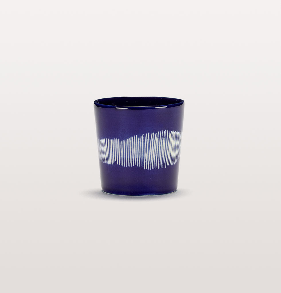Ottolenghi x Serax. Lapis Lazuli and Swirl Stripes White coffee cup. £10 wagreen.co.uk