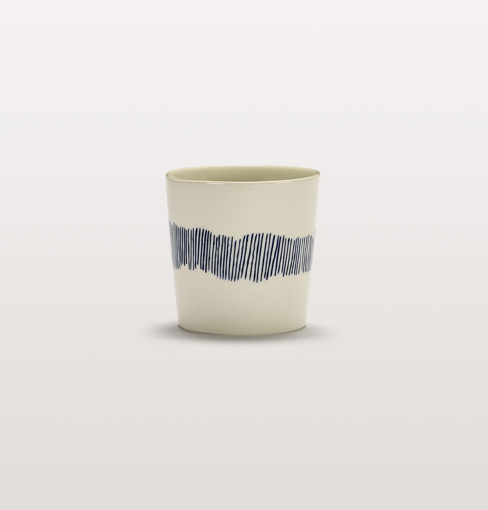 Ottolenghi x Serax. White and Swirl Stripes Blue coffee cup. £10 wagreen.co.uk