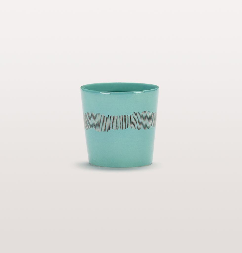 Ottolenghi x Serax. Azure and Swirl Stripes Red coffee cup. £10 wagreen.co.uk