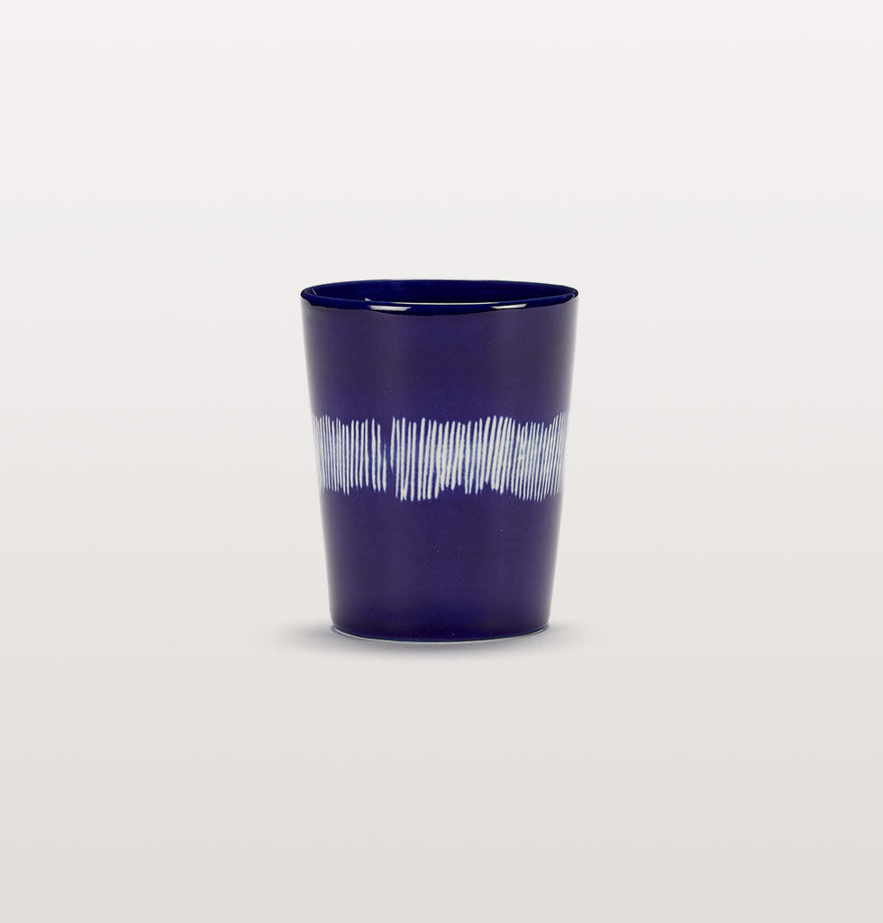 Ottolenghi x Serax. Lapis Lazuli and Swirl Stripes White tea cup. £12 wagreen.co.uk