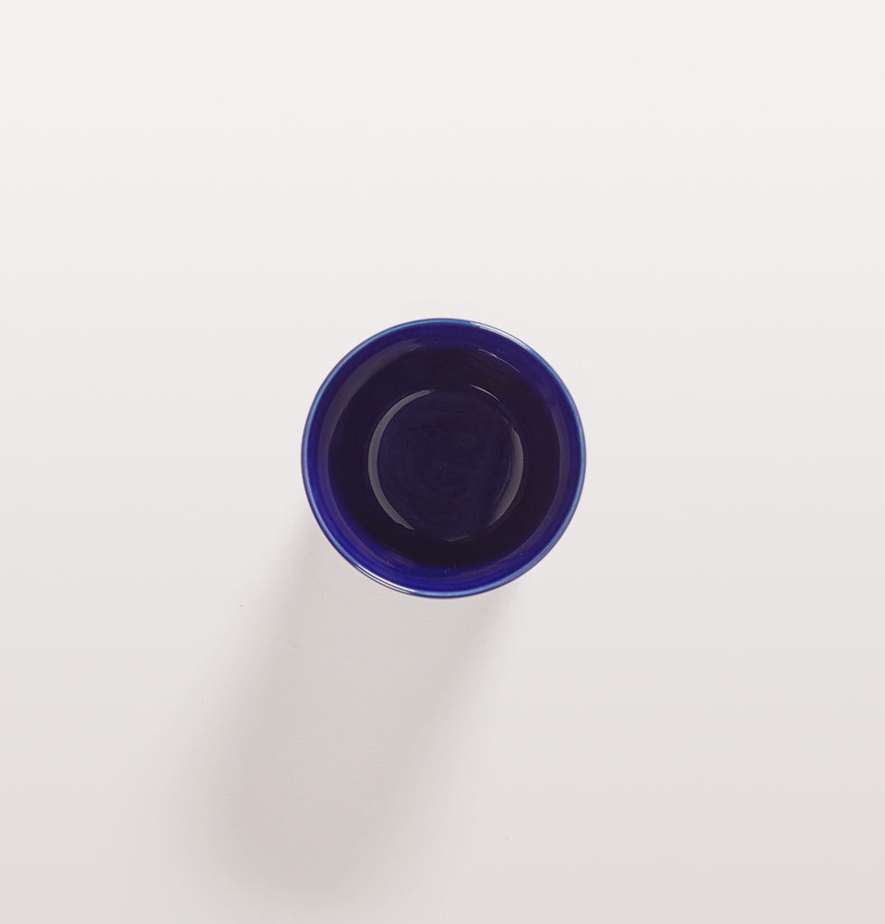 Ottolenghi x Serax. Lapis Lazuli and Swirl Stripes White tea cup top view. £12 wagreen.co.uk