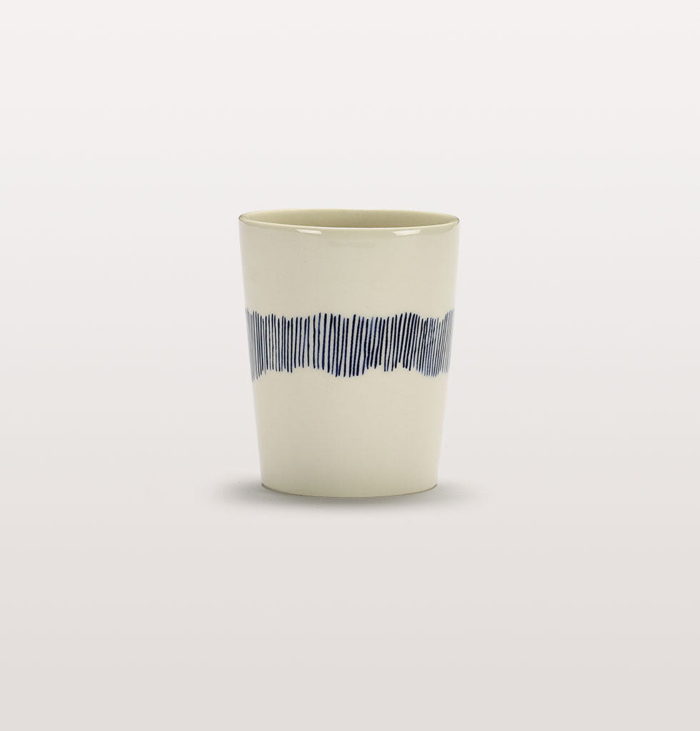 Ottolenghi x Serax. White and Swirl Stripes Blue tea cup. £12 wagreen.co.uk