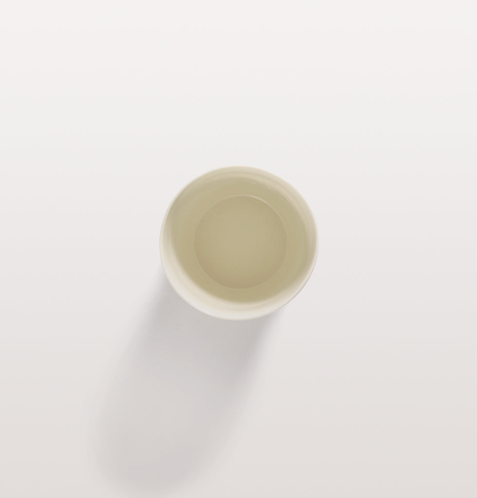 Ottolenghi x Serax. White and Swirl Stripes Blue tea cup top view. £12 wagreen.co.uk