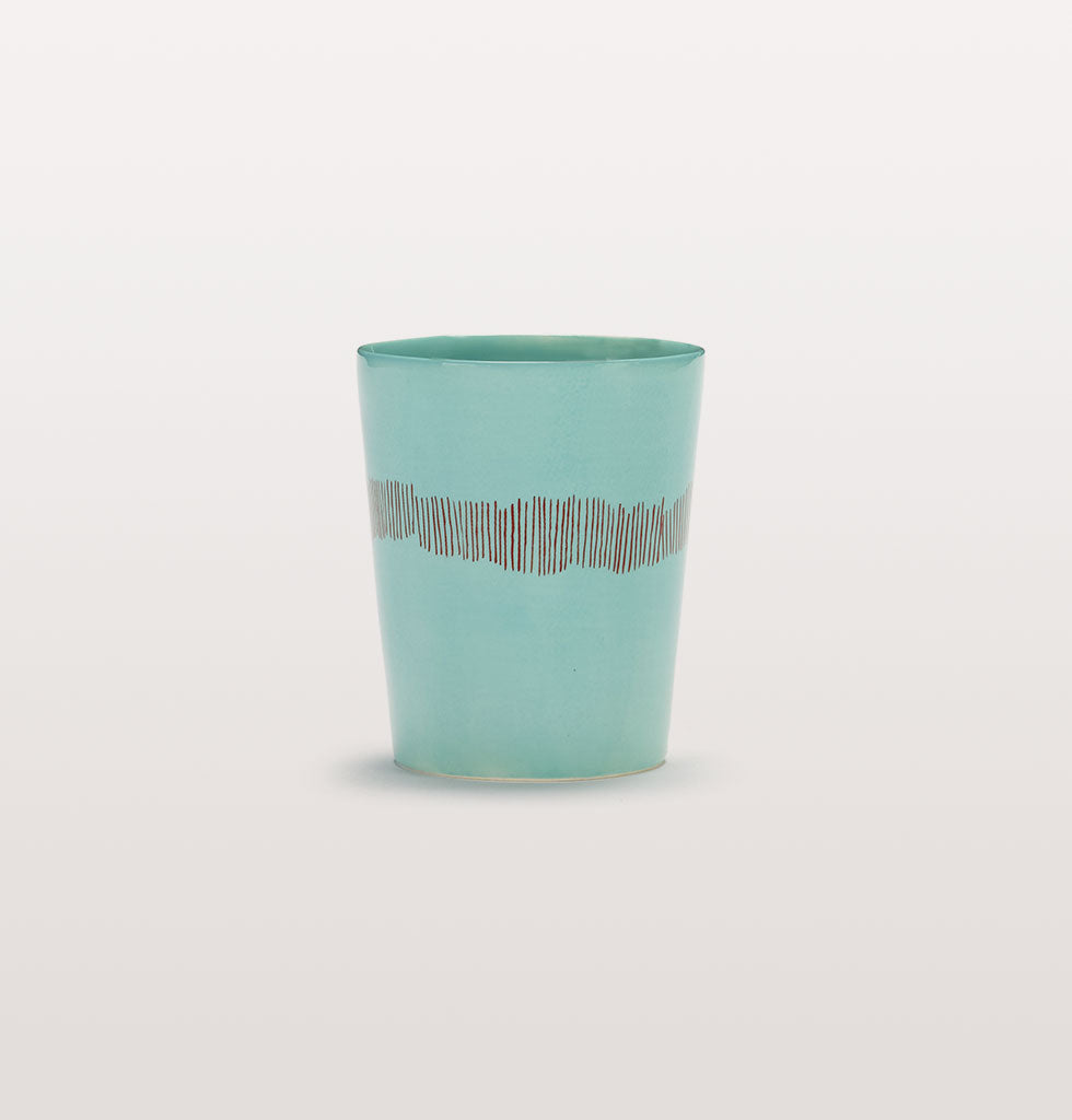 Ottolenghi x Serax. Azure and Swirl Stripes Red tea cup. £12 wagreen.co.uk