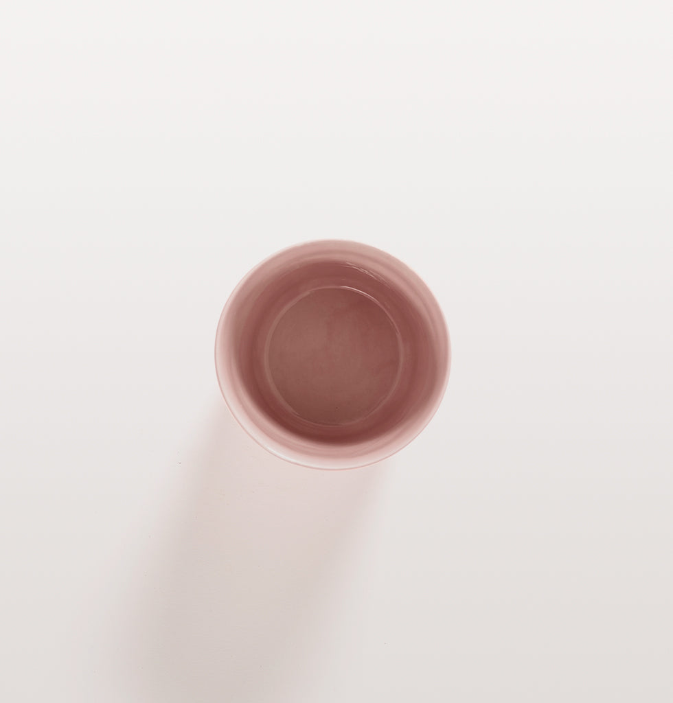 Ottolenghi x Serax. Delicious Pink tea cup top view. £12 wagreen.co.uk
