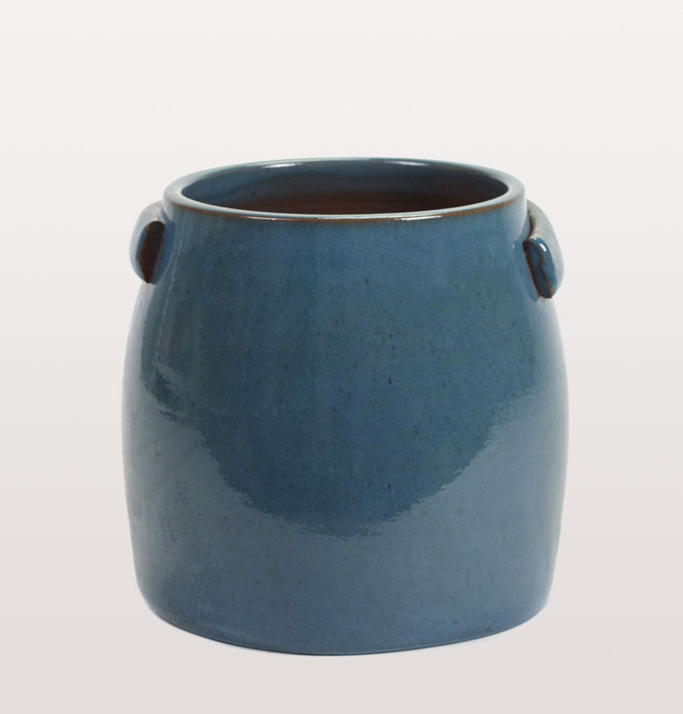 This deep blue  plant pot will add a touch of year round colour to your garden patio terrace or inside your home.  Designed by Serax this soft deep blue planter brings a modern touch to your greenery. Hand crafted in Portugal.