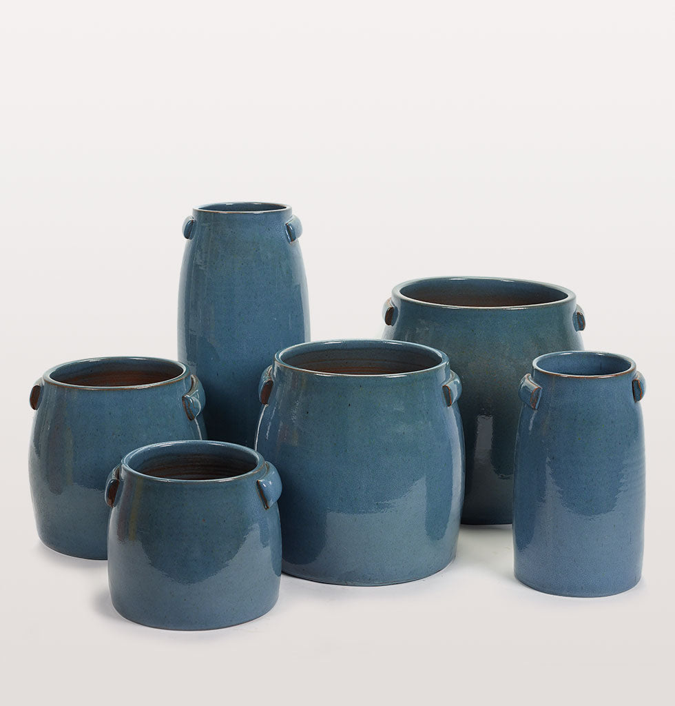 TABOR BLUE PLANT POT SMALL
