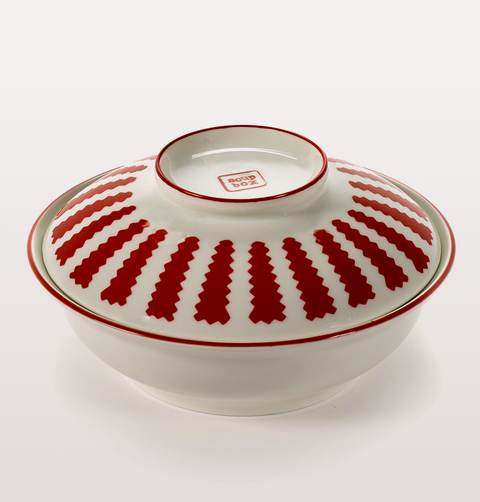 NOMADE COLLECTION RED AND WHITE SOUP BOX