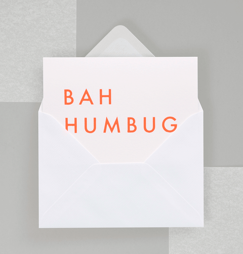 BAH HUMBUG CARD by OLA STUDIO