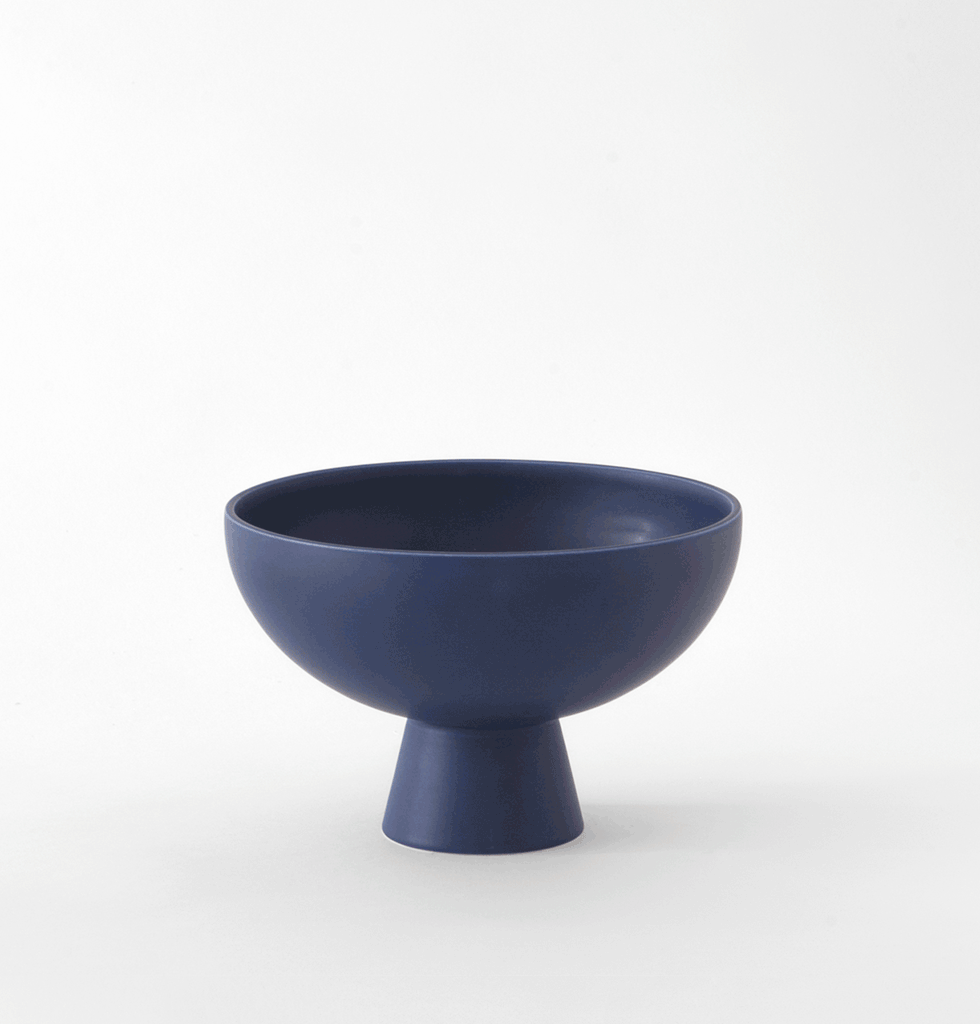 Small blue round ceramic bowl or trinket dish by Raawii Strom
