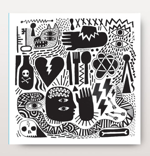 Cosmic Black and white Card by David Shillinglaw