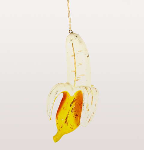PEELED BANANA CHRISTMAS DECORATION