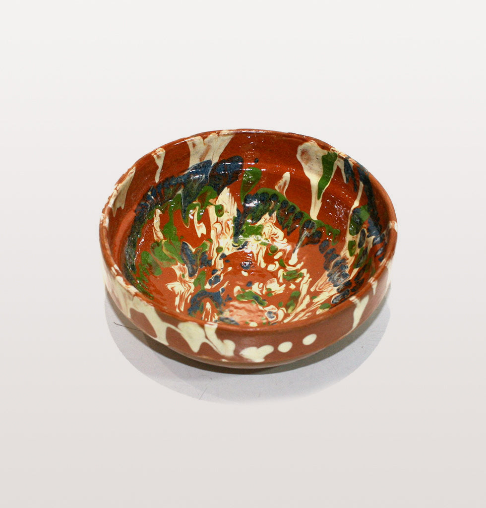 MARBLED VINTAGE BROWN MEZE BOWL