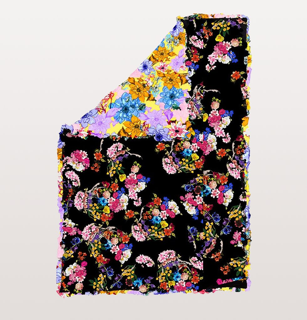 PREEN HOME BLACK FLORAL SKULL EIDERDOWN