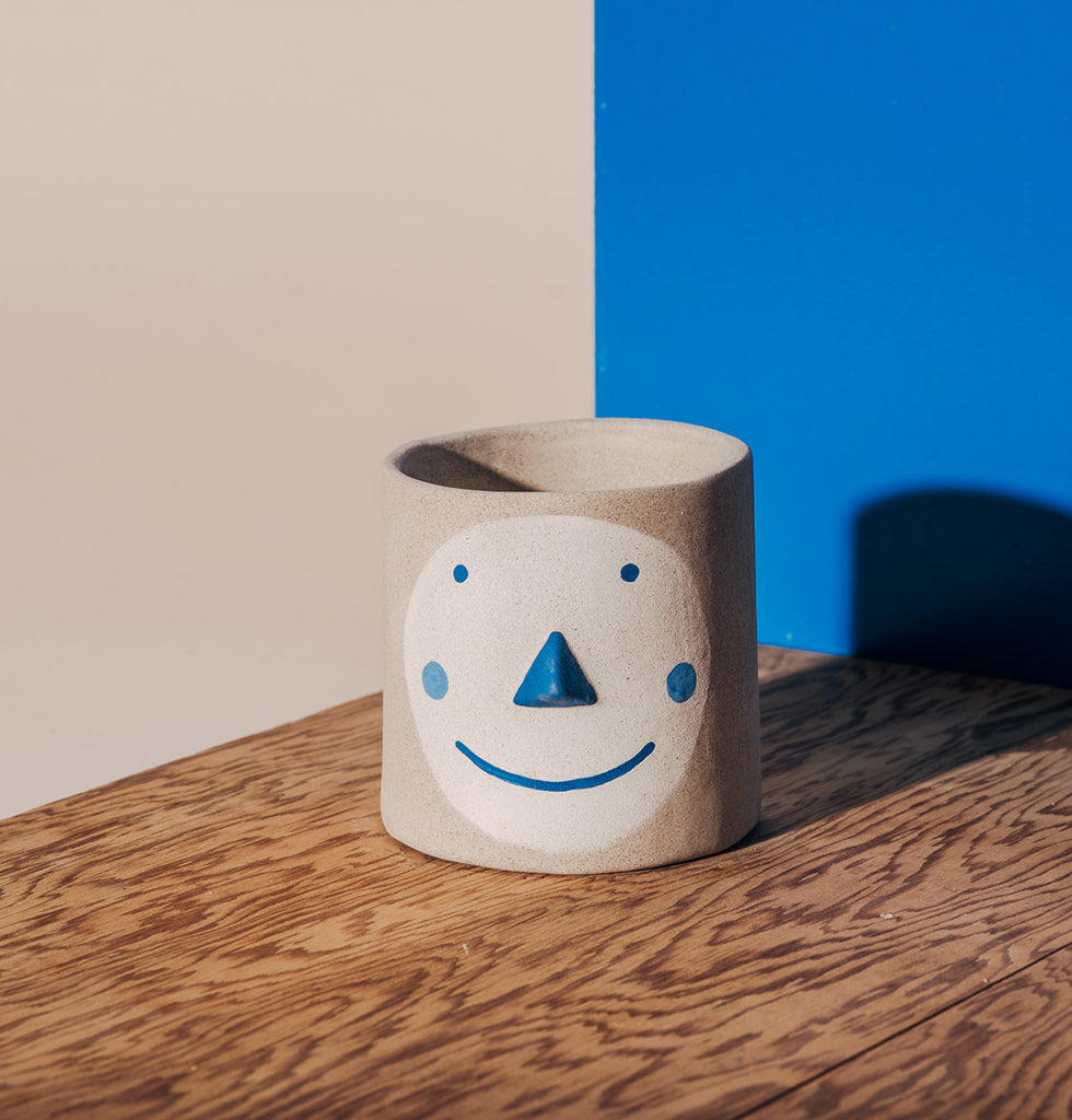 GROUP PARTNER BLUE PAT FACE POT