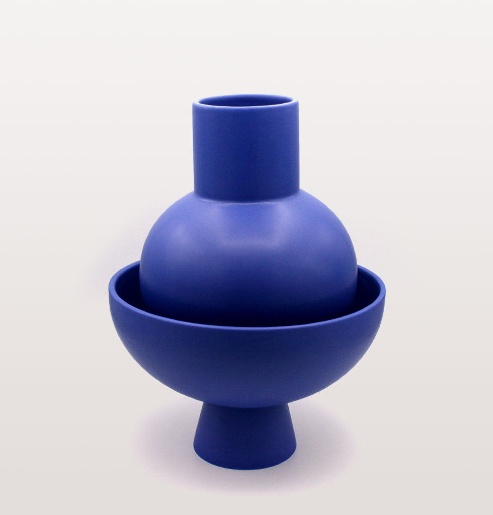 Large vase and large Strom bowl by raawii. All available at wagreen.co.uk