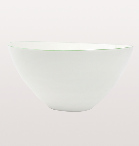 ABBESSES WHITE & GREEN LARGE SALAD BOWL by CANVAS HOME