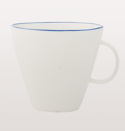 Abbesses white cup with blue line
