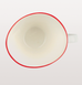 Abbesses white porcelain red line coffee cup with red line