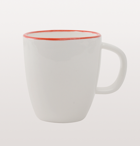 Abbesses red and white espresso coffee cup
