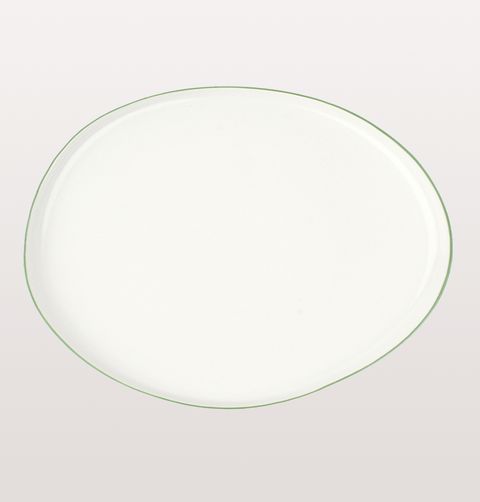 ABBESSES WHITE & GREEN LARGE SERVING PLATTER by CANVAS HOME