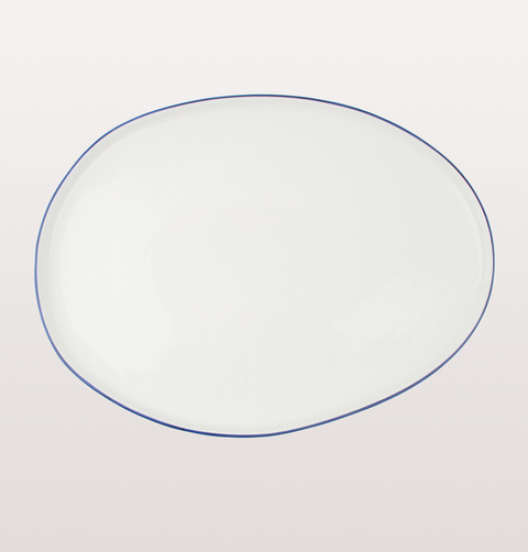 ABBESSES WHITE & BLUE SMALL PLATTER by CANVAS HOME