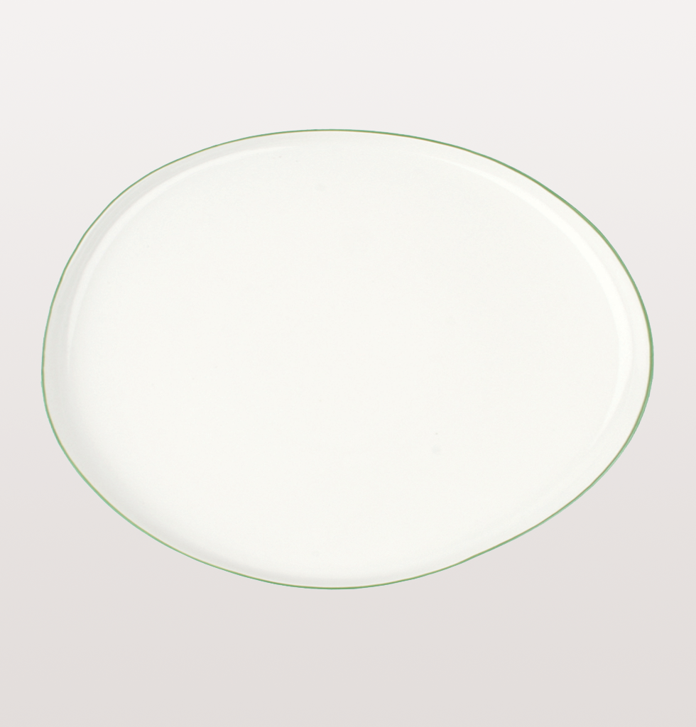 SMALL GREEN ABBESSES PLATTER