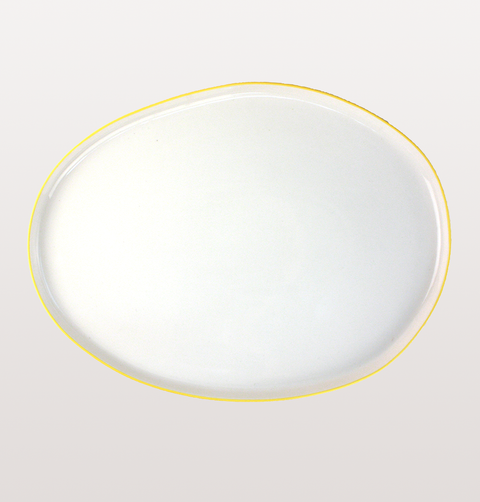 ABBESSES WHITE & YELLOW SMALL PLATTER by CANVAS HOME
