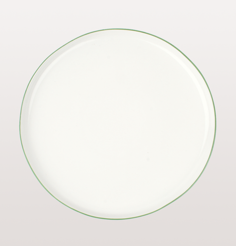 LARGE GREEN ABBESSES PLATE