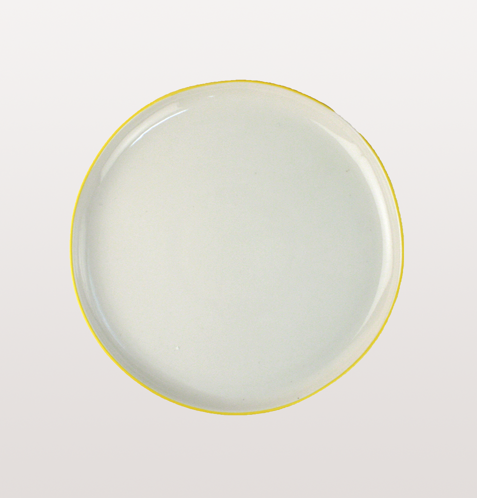 Medium yellow rim Canvas Home Abbesses plate